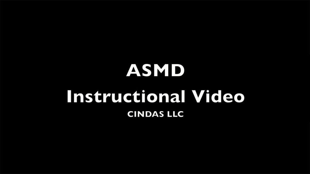 ASMD 数据库培训视频
