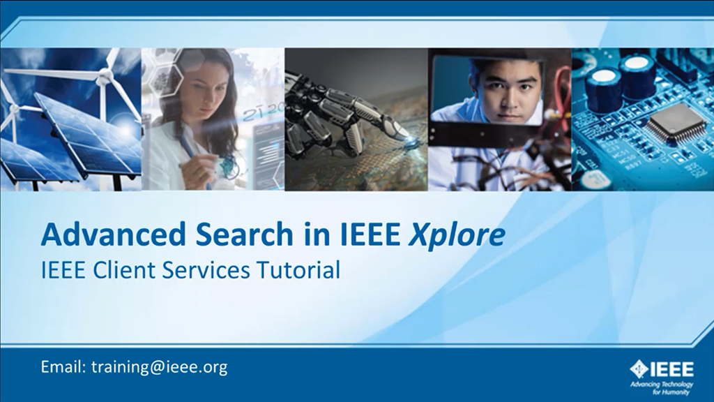 IEEE Xplore 高级检索(英文版检索)
