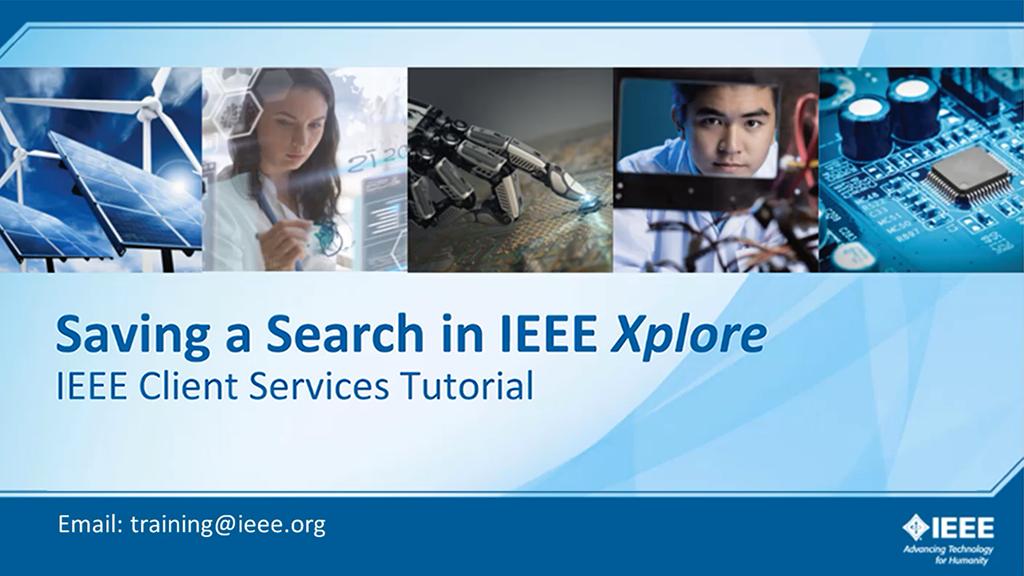 IEEE Xplore 检索式订阅(英文版检索)