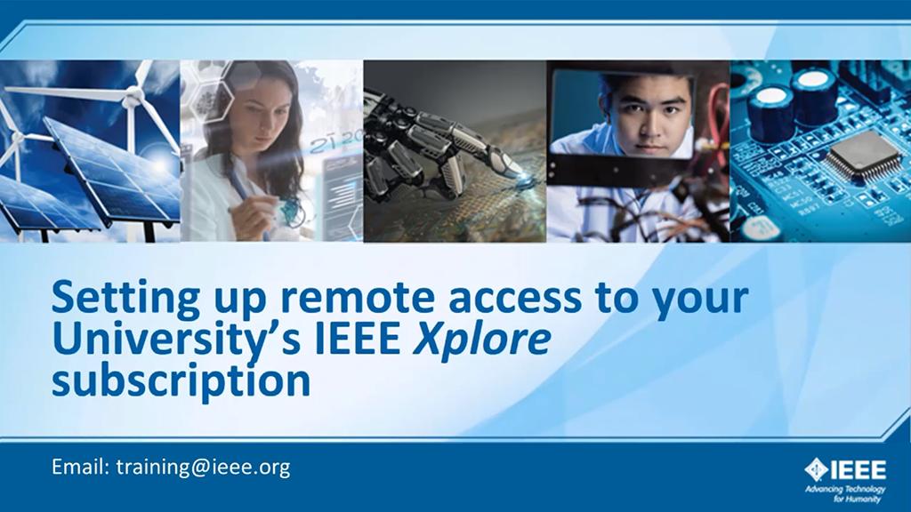 IEEE Xplore远程访问之Remote Access(中文)